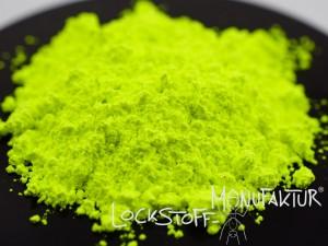Egal ob Hookbait, Wafter oder Pop Up - Fluoro-Yellow als Farbstoff für (Boilie-)Mixe.