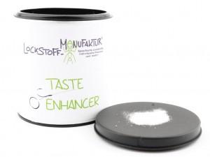 Unser Taste Enhancer verstärkt vor allem den Geschmack würziger Boiliezutaten.