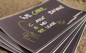 Premiumsticker für Karpfenangler: DO CARE - Catch and Release!