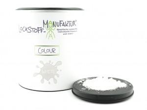 Wird in der großen Dose geliefert - Colour White - für auffällige Boilies.