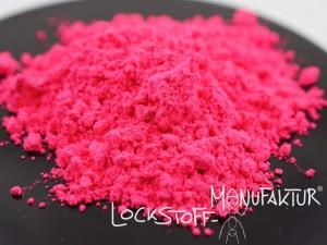 Kräftig - intensiv - fängig. Fluoro-Pink als Farbstoff für auffällige Pop Ups, Wafter und Hookbaits für Karpfen.