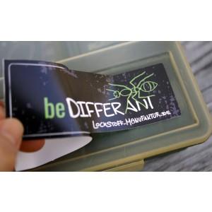 Zeige dass Du anders, erfolgreicher auf Karpfen angelst, als andere. Mit den hochwertigen beDIFFERANT Stickern.