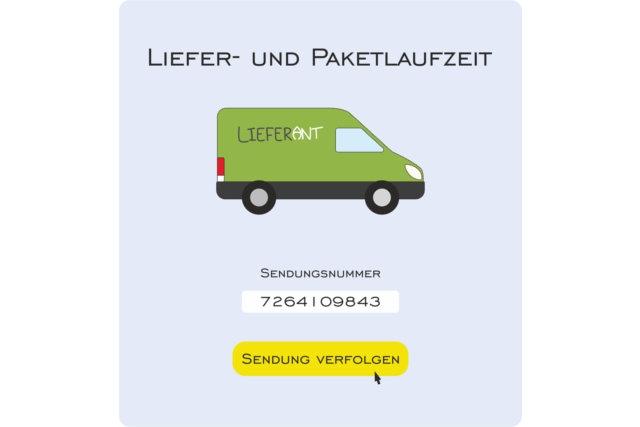 Informationen zur Liefer- und Paketlaufzeit bei der Lockstoff-Manufaktur